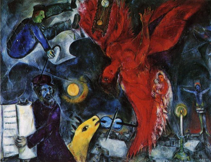 """Marc Chagall - """"The Falling Angel"""", 1923 Chagall Crucifixion"""