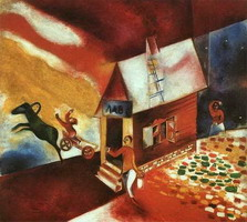 Marc Chagall. The Flying Carriage (La caléche volante), 1913
