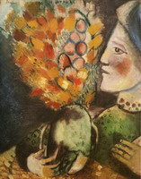 Marc Chagall. Woman with a Bouquet, 1910
