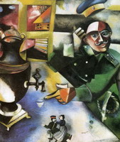 Marc Chagall. The Soldier Drinks, 1913