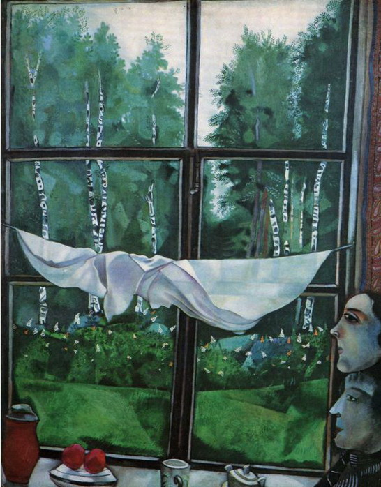 Marc Chagall. Window at the Dacha. 1915